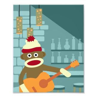 Sock Monkey Acoustic Guitar Photo Print