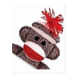 Sock Monkey merchandise products gifts Postcard
