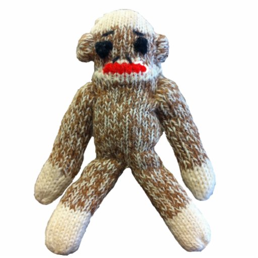 Sock Monkey Photo Sculpture