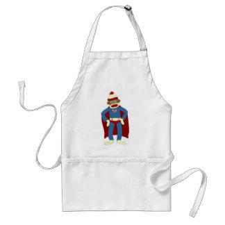Sock Monkey Superhero Aprons
