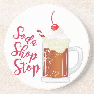 Soda Shop Stop Drink Coasters