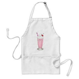 Soda Shoppe Strawberry Ice Cream Milkshake Shake Standard Apron