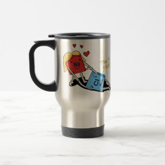 Sodium chloride stainless steel travel mug