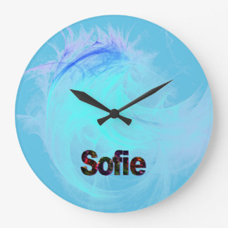 Sofie Large Round Wall Clock for Bluish Deco