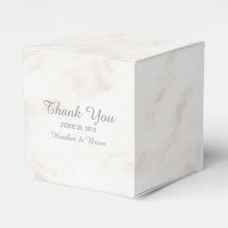 Soft Beige Elegant Marble Wedding Party Favour Box