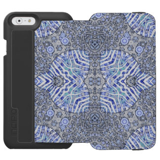 Soft Blue Animal Print Incipio Watson™ iPhone 6 Wallet Case