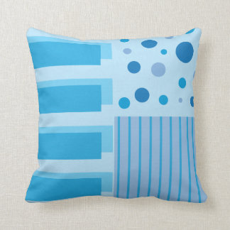 Soft Blue Geometric Patterns Throw Cushions