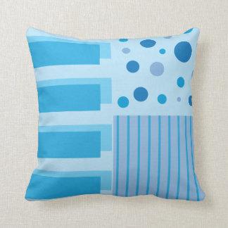 Soft Blue Geometric Patterns Throw Pillow