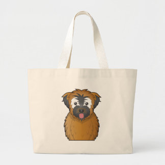 Soft Coated Wheaten Terrier Cartoon Tote Bags