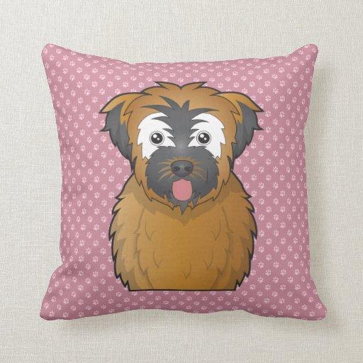 Soft Coated Wheaten Terrier Cartoon Throw Pillows