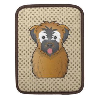 Soft Coated Wheaten Terrier Cartoon iPad Sleeves