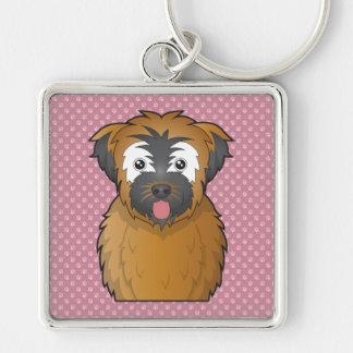 Soft Coated Wheaten Terrier Cartoon Keychain