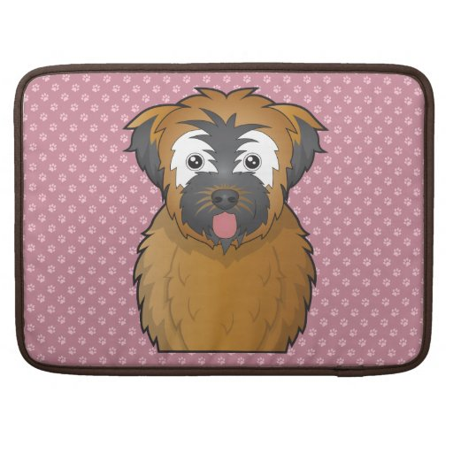 Soft Coated Wheaten Terrier Cartoon Sleeves For MacBook Pro
