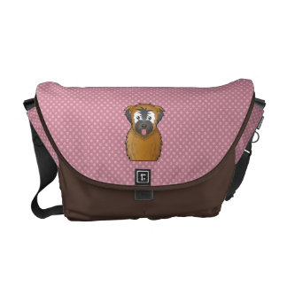 Soft Coated Wheaten Terrier Cartoon Courier Bag