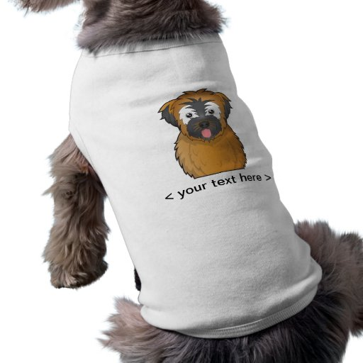 Soft Coated Wheaten Terrier Cartoon Personalized Doggie Tshirt