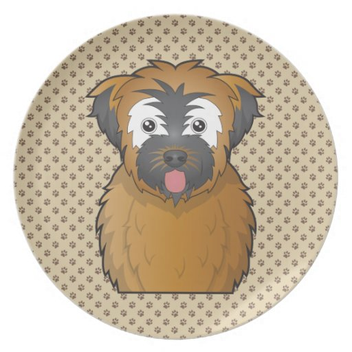 Soft Coated Wheaten Terrier Cartoon Party Plate