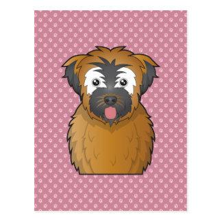 Soft Coated Wheaten Terrier Cartoon Postcards