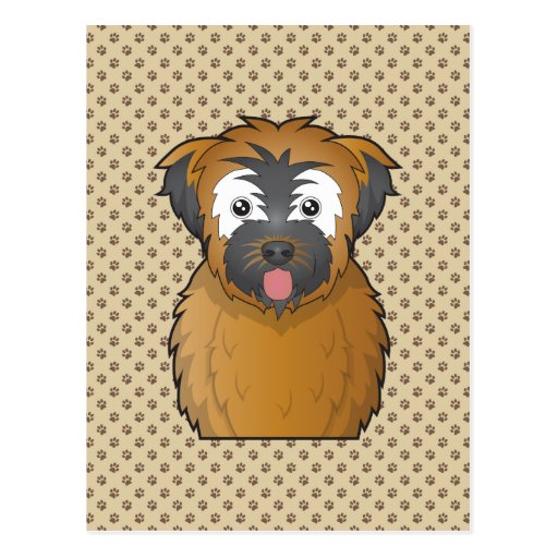 Soft Coated Wheaten Terrier Cartoon Post Cards