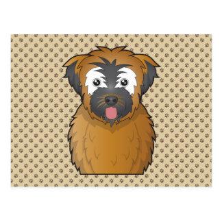 Soft Coated Wheaten Terrier Cartoon Post Cards