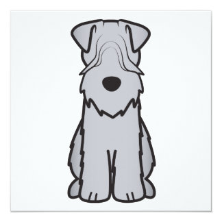 Soft Coated Wheaten Terrier Dog Cartoon 13 Cm X 13 Cm Square Invitation Card