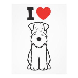 Soft Coated Wheaten Terrier Dog Cartoon 21.5 Cm X 28 Cm Flyer
