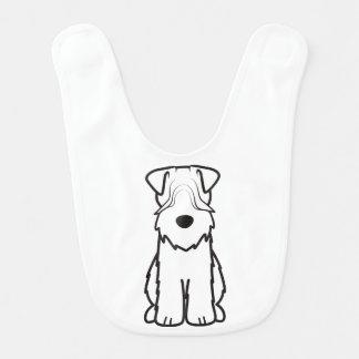 Soft Coated Wheaten Terrier Dog Cartoon Baby Bibs
