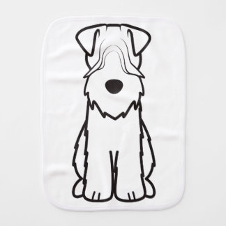 Soft Coated Wheaten Terrier Dog Cartoon Baby Burp Cloth