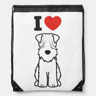 Soft Coated Wheaten Terrier Dog Cartoon Drawstring Backpack