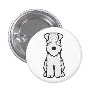 Soft Coated Wheaten Terrier Dog Cartoon Pinback Button