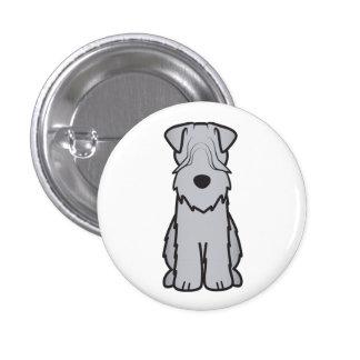 Soft Coated Wheaten Terrier Dog Cartoon 3 Cm Round Badge