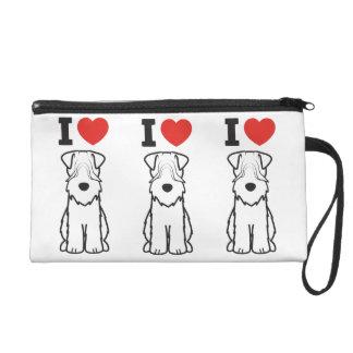 Soft Coated Wheaten Terrier Dog Cartoon Wristlet Purses