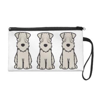 Soft Coated Wheaten Terrier Dog Cartoon Wristlets