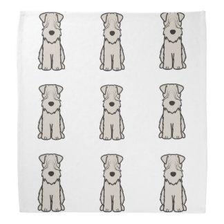 Soft Coated Wheaten Terrier Dog Cartoon Bandanna