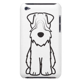 Soft Coated Wheaten Terrier Dog Cartoon Barely There iPod Cases
