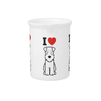 Soft Coated Wheaten Terrier Dog Cartoon Beverage Pitcher