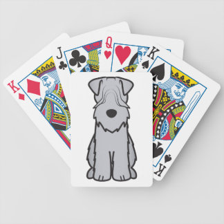 Soft Coated Wheaten Terrier Dog Cartoon Bicycle Poker Cards