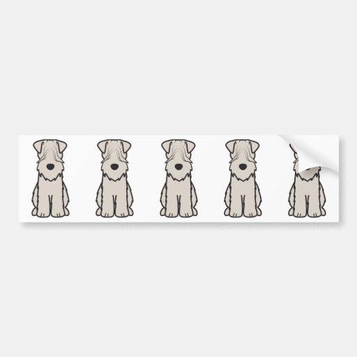 Soft Coated Wheaten Terrier Dog Cartoon Bumper Stickers