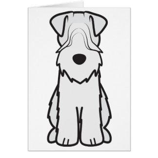 Soft Coated Wheaten Terrier Dog Cartoon Greeting Card