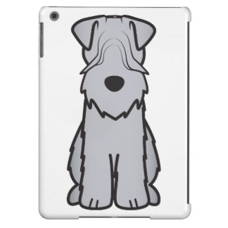 Soft Coated Wheaten Terrier Dog Cartoon iPad Air Cases