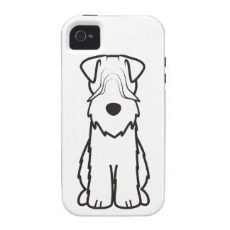 Soft Coated Wheaten Terrier Dog Cartoon Case-Mate iPhone 4 Cover