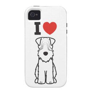 Soft Coated Wheaten Terrier Dog Cartoon iPhone 4/4S Case