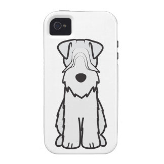 Soft Coated Wheaten Terrier Dog Cartoon iPhone 4/4S Cover