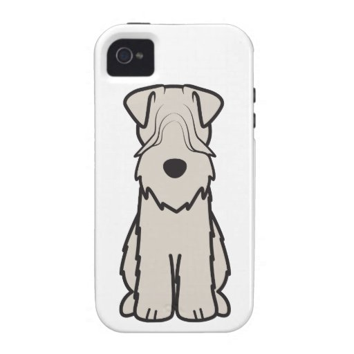 Soft Coated Wheaten Terrier Dog Cartoon Vibe iPhone 4 Cover