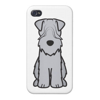 Soft Coated Wheaten Terrier Dog Cartoon Case For iPhone 4