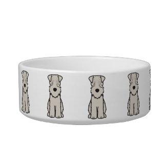 Soft Coated Wheaten Terrier Dog Cartoon Cat Bowl