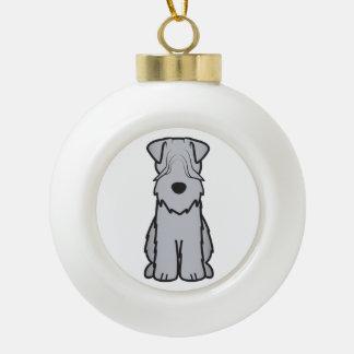 Soft Coated Wheaten Terrier Dog Cartoon Ceramic Ball Decoration