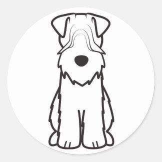 Soft Coated Wheaten Terrier Dog Cartoon Classic Round Sticker