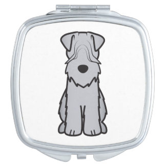 Soft Coated Wheaten Terrier Dog Cartoon Mirrors For Makeup