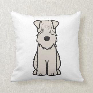 Soft Coated Wheaten Terrier Dog Cartoon Throw Cushions