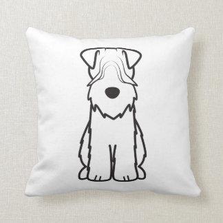 Soft Coated Wheaten Terrier Dog Cartoon Cushions